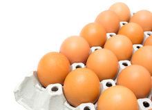 Eggs in the package Royalty Free Stock Photos