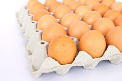 Eggs in a package to isolate Royalty Free Stock Images