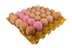 30 eggs in The package. On White background Stock Photography