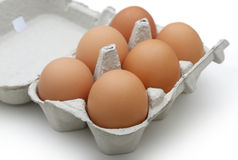 Eggs in the package Royalty Free Stock Photography
