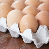 The eggs in package Royalty Free Stock Photography