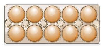 Eggs in a packet Royalty Free Stock Photos