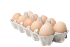 Eggs in packing Royalty Free Stock Photos