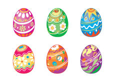 Easter Egg. Eggs are painted in different colors to celebrate Easter Stock Photo