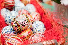 Eggs painted handmade Royalty Free Stock Photos