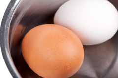 Eggs in pan Stock Photography