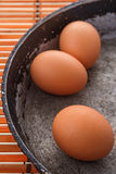 Eggs on a pan Stock Photography