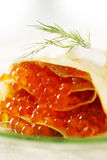 Eggs in pancakes Royalty Free Stock Photos