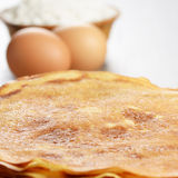 Eggs, pancakes, flour Royalty Free Stock Photos