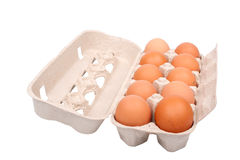 Eggs In A Paper Box Royalty Free Stock Photography