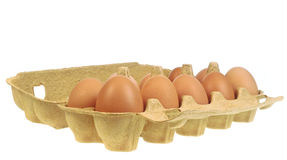 Eggs in a paper box Stock Photo