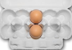 Eggs in a paper container Royalty Free Stock Photo