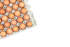 Eggs in paper tray Royalty Free Stock Image