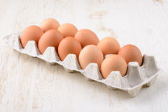 Eggs in the paper tray Royalty Free Stock Image