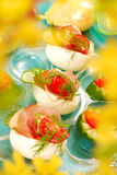 Eggs with parma ham for easter Royalty Free Stock Images