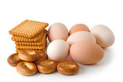 Eggs and pastry Stock Photography