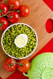Eggs, Peas, and Tomatoes Royalty Free Stock Image