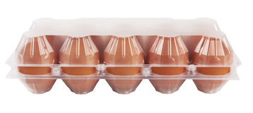 Eggs in plastic Royalty Free Stock Images