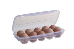 Eggs in plastic package Royalty Free Stock Images