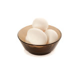 Eggs in plate Stock Photos