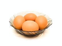 Eggs on plate Royalty Free Stock Photography