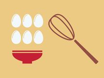 Eggs with plate. Stock Photography