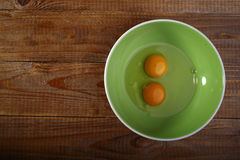 Eggs on plate Stock Image