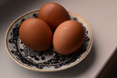 Eggs on a plate Stock Image