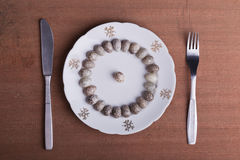 Eggs on a plate Royalty Free Stock Photography