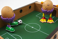 Eggs playing soccer Royalty Free Stock Photography
