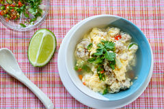 Eggs, pork soup Stock Images