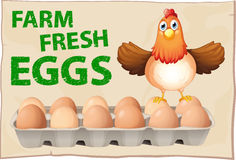Eggs poster Stock Image