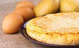 Eggs and potatoes omelet Stock Images