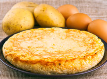Eggs and potatoes omelet Stock Image