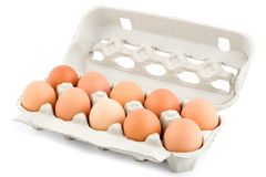 Eggs in protective case Stock Photography