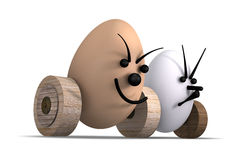 Eggs Racing No.3 Royalty Free Stock Images