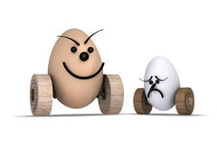 Eggs Racing No.5 Royalty Free Stock Photo