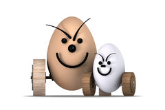 Eggs Racing No.7 Royalty Free Stock Photography