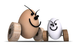 Eggs Racing No.8 Royalty Free Stock Photo