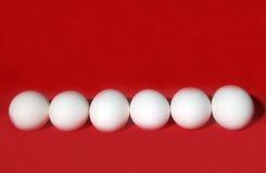 Eggs in Red Royalty Free Stock Photography