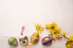 Eggs on the row Stock Photography