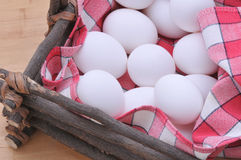 Eggs in a Rustic Basket Stock Photography