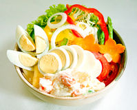 Eggs salad Japanese food style isolated  Royalty Free Stock Images
