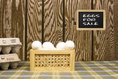 Eggs for sale Stock Photography