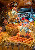 Eggs sale at market Royalty Free Stock Image