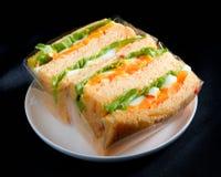 Eggs sandwich bread isolated  Stock Photo