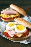 Eggs sandwiches Royalty Free Stock Photos