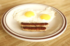 Eggs and sausage Stock Photo