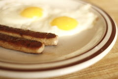 Eggs and sausage Stock Image