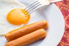 Eggs and sausage Royalty Free Stock Images